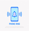 phone ring bell ringing on mobile screen vector image