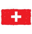 pixelated flag of switzerland vector image