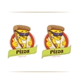 Pizza Funny Character vector image