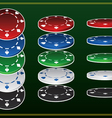 poker chips vector image vector image