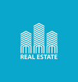 real estate logo design template vector image