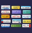 realistic car numbers set vector image