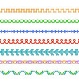 realistic detailed 3d colourful stitches set vector image vector image