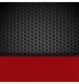 red leather panel on black mesh vector image vector image