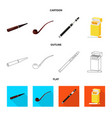 refuse and stop symbol set vector image