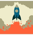 Retro rocket start up business vector image
