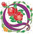 rosette letter Q vector image