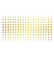 running gentleman golden halftone effect vector image