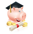 saving for career piggy bank vector image vector image