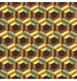 Seamless abstract 3d background with hexagonal vector image vector image