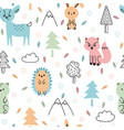 seamless childish pattern with cute hand drawn vector image vector image
