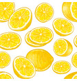 seamless lemons pattern vector image