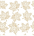 seamless pattern maple leaf vector image vector image