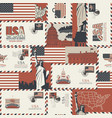 seamless pattern on theme usa vector image