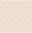 seamless pattern with pink polka dots vector image vector image