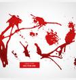 set of red splatter ink vector image vector image