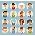 set people icons in flat style vector image