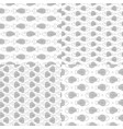 set seamless patterns with fish skeleton vector image