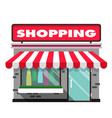 shopping infographic icon store background vector image vector image