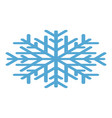 snowflake icon isometric style vector image vector image