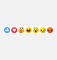social media emoji reactions 3d set vector image