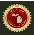 Star label Michigan vector image vector image