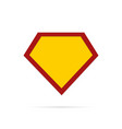 super hero sign vector image