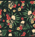 tropical colorful vintage seamless pattern vector image vector image