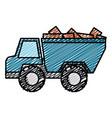 truck dump with bricks vector image