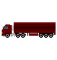 truck with a trailer that transports cargo vector image vector image