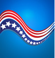 usa star flag logo stripes design elements vector image vector image