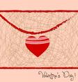 Valentine day letter hearts retro vector image vector image