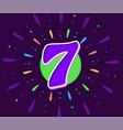 violet 7 in middle fireworks vector image