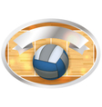 Volleyball Banner and Emblem vector image vector image