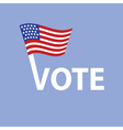 vote in USA vector image vector image