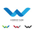 w letter logo template design vector image vector image