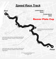 white speed track in city vector image vector image