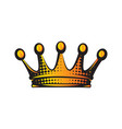 with color crown isolated clipart vector image vector image
