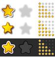 yellow rating stars vector image vector image