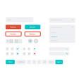 flat user interface set for website vector image