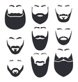 Isolated face with mustache and beard logo vector image