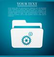 settings folder icon isolated on blue background vector image