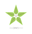 minimal evergreen trees vintage label vector image