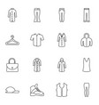 16 casual icons vector image vector image