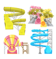 Aquapark Equipments Images Set vector image vector image