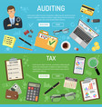 auditing tax and business accounting banners vector image vector image