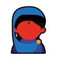 Avatar face indian woman blue sari vector image