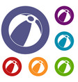 beach ball icons set vector image vector image