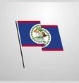 belize waving flag design background vector image