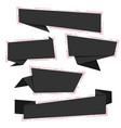 black friday flat origami paper social media vector image